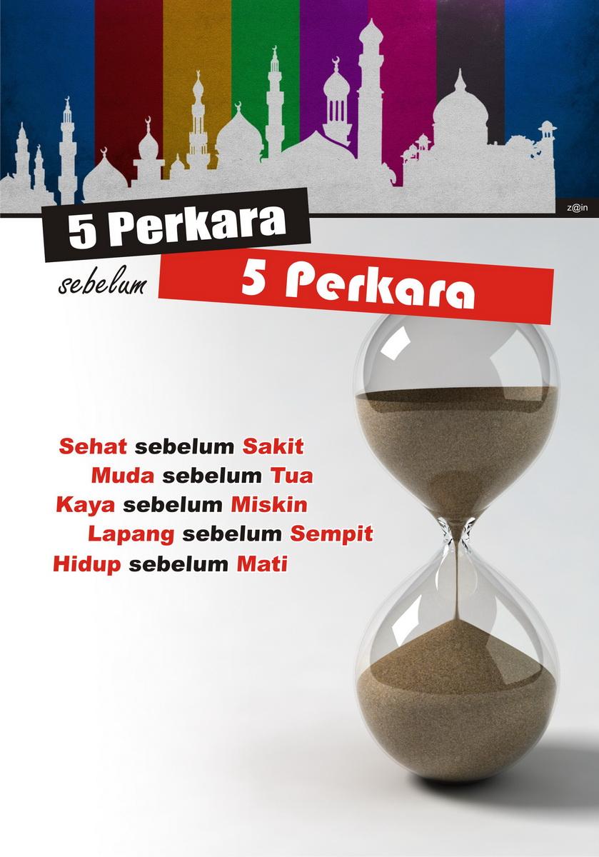 5 Perkara Sebelum 5 Perkara Poster Ramadhan 1433 H Zindesignjpg