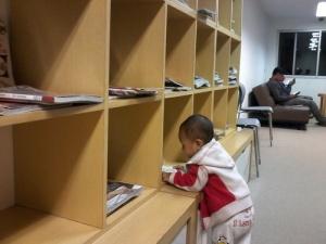 Fadhil di Perpustakaan Amiin Jatim Park 1, Batu